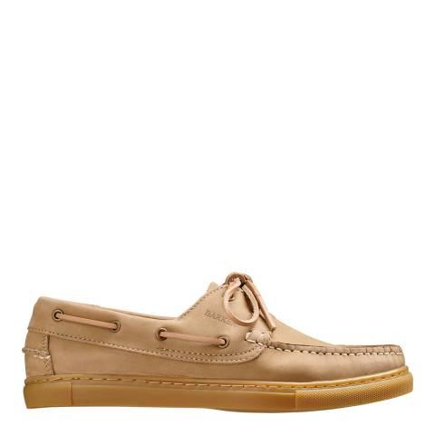 Barker Beige Henri Nubuck Boat Shoes