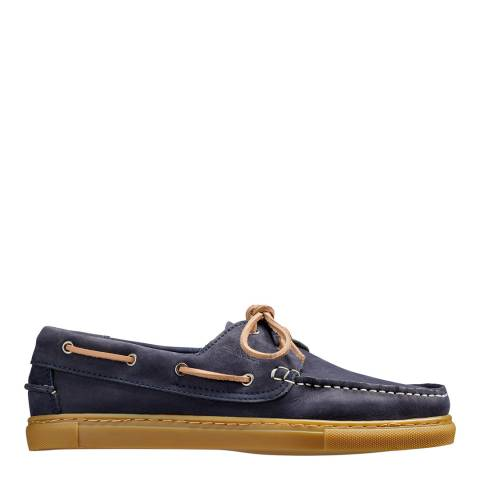 Barker Navy Henri Nubuck Boat Shoes
