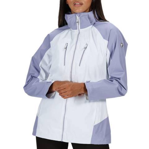 Regatta White Hooded Waterproof Shell Jacket
