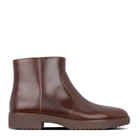 FitFlop Chocolate Leather Maria Ankle Boots