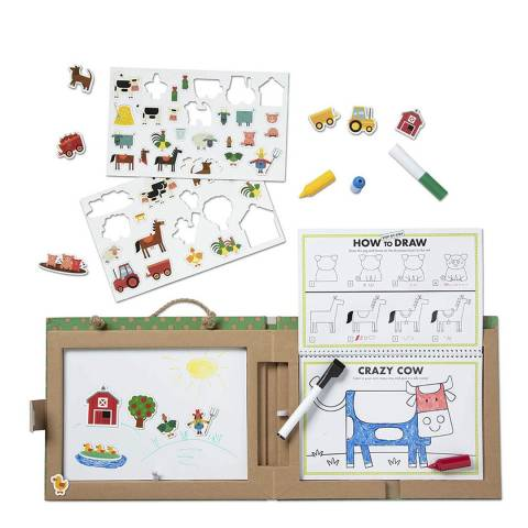 Melissa and Doug Farm Reusable Drawing And Magnet Kit