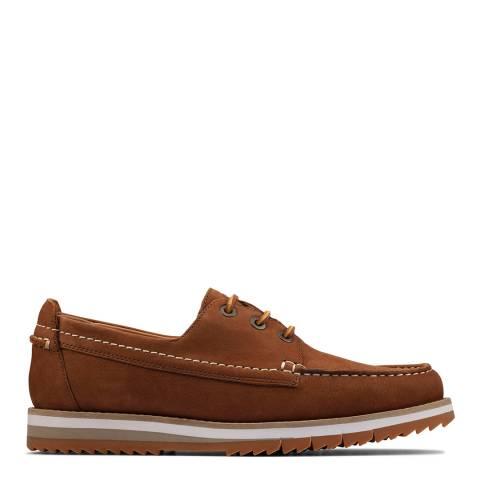 Clarks Tan Nubuck Durston Boat Shoes