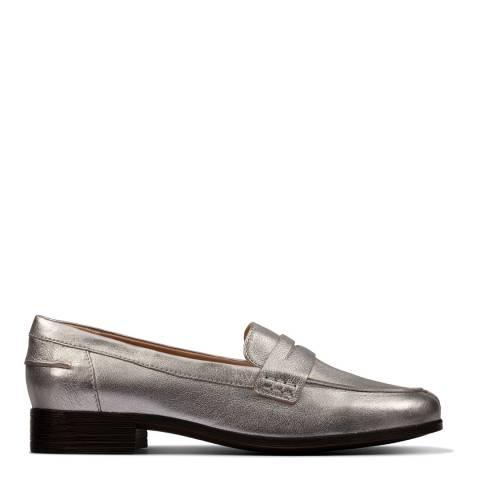 Clarks Hamble Loafer Silver Metallic