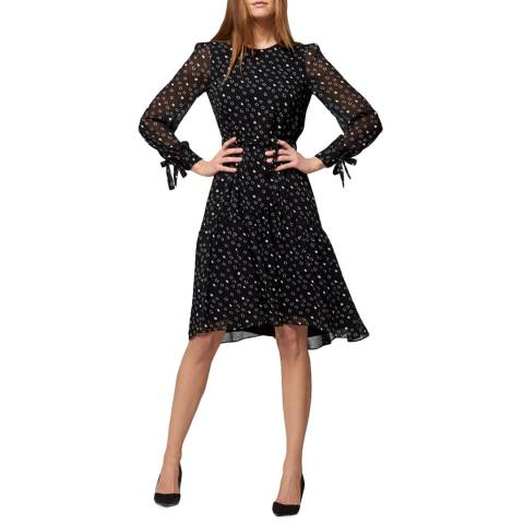 L K Bennett Black/White Perl Dress