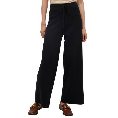 Mango Black Knitted Palazzo Trousers