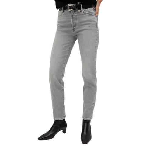 Mango Grey Cotton Stretch Jeans