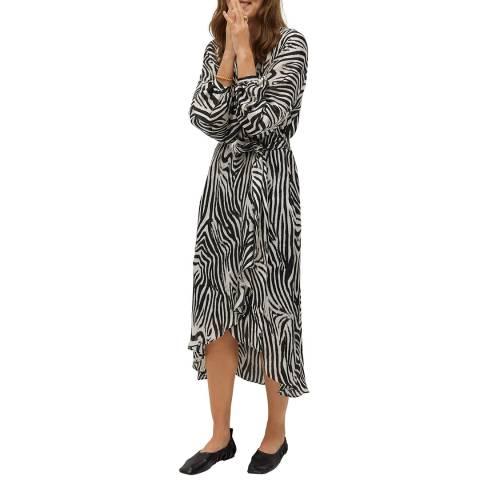 Mango Black Zebra Printed Dress