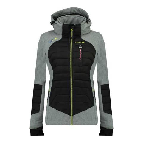 Canadian Peak Grey Softshell Hooded Lightweight Jacket
