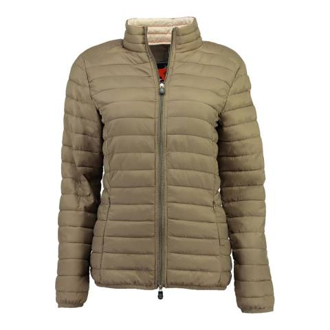Canadian Peak Taupe Quilted Packaway Lightweight Jacket