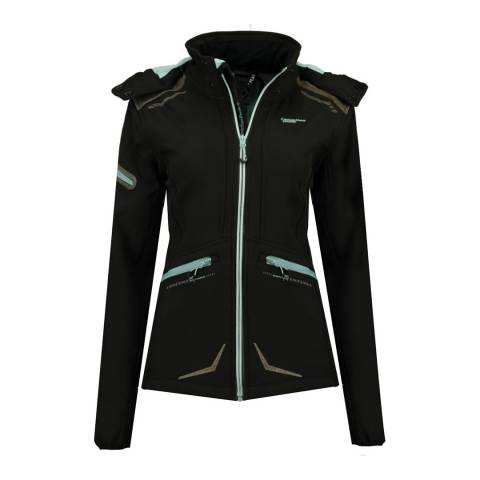 Canadian Peak Black Softshell Lightweight Jacket