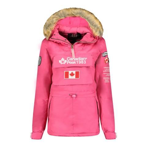 Canadian Peak Pink Pull Over Hooded Lightweight Jacket