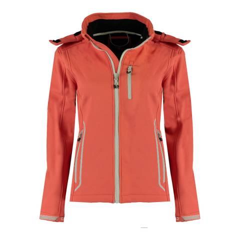 Canadian Peak Coral Softshell Hooded Lightweight Jacket