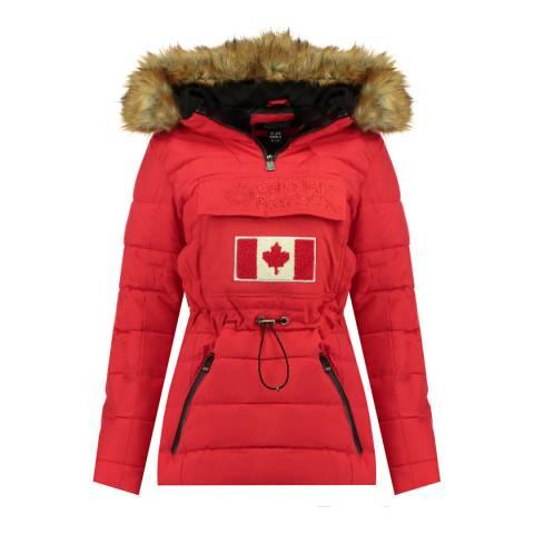 Canadian Peak Red Padded Hooded Lightweight Jacket