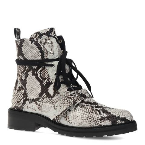 AllSaints Snake Print Donita Lace Up Ankle Boots