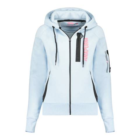 Anapurna Blue Full Zip Cotton Blend Hoodie