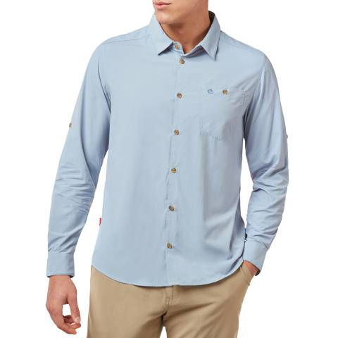 Craghoppers Blue Nuoro Long Sleeved Shirt