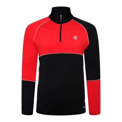 Dare2B Red/Black Half Zip Stretch Midlayer