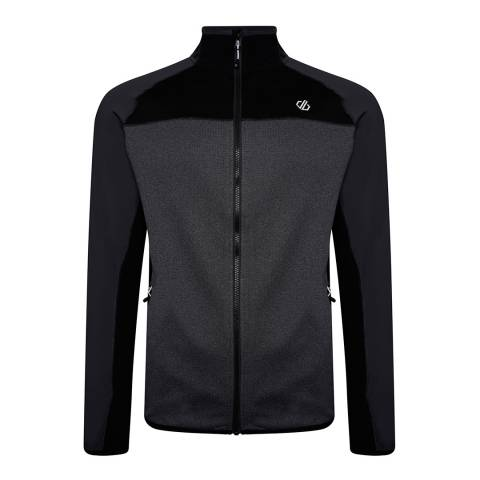 Dare2B Grey/Black Full Zip Stretch Midlayer