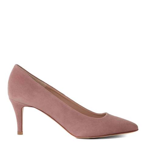 Hobbs London Dusky Pink Suede Elouise Court Shoes