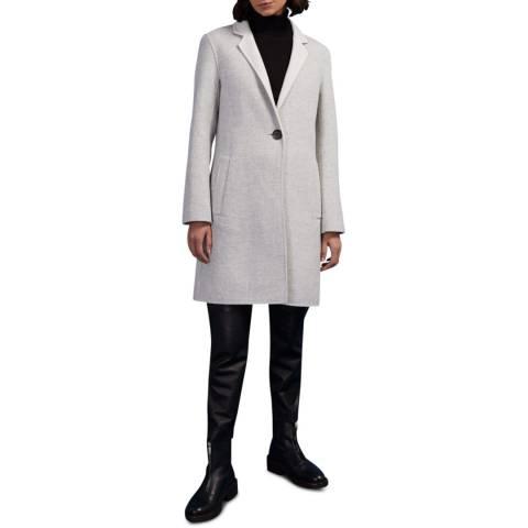 Jigsaw Grey Wool Blend Column Coat