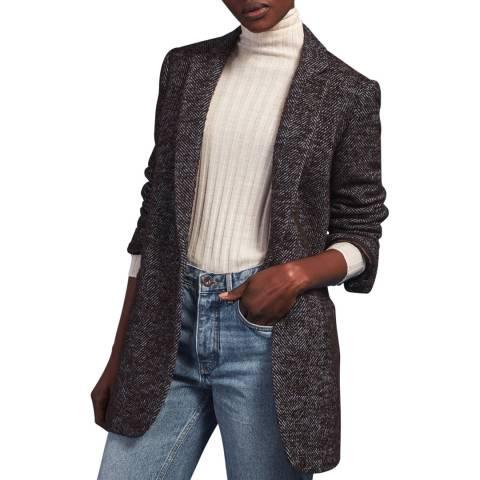 Jigsaw Charcoal Wool Blend Coat