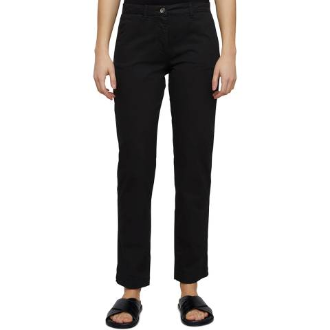 Jigsaw Black Slim Leg Cotton Chino Trousers