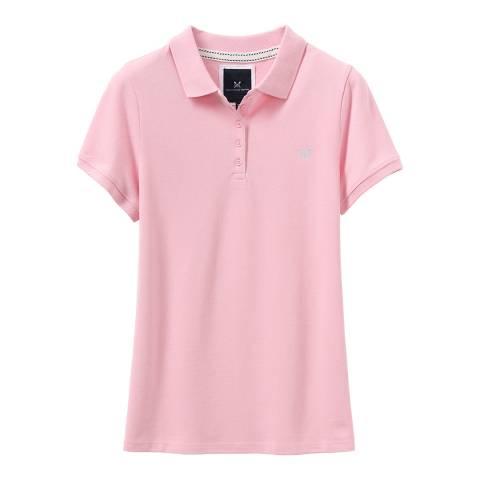 Crew Clothing Pink Cotton Polo Shirt