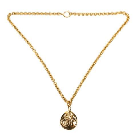 Chanel Gold CC Logo Necklace