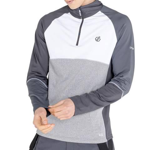Dare2B White Half Zip Stretch Sweatshirt