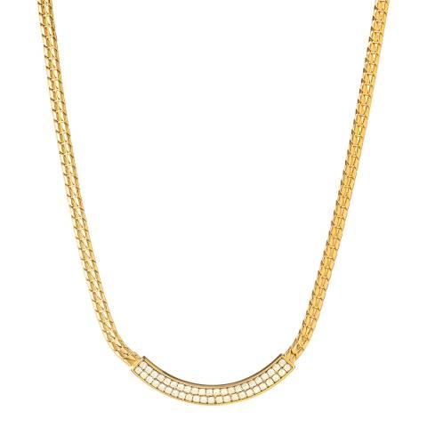 SWAROVSKI Gold 1980 Flat Weave Necklace