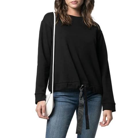 Emporio Armani Black Tie-Hem Sweatshirt