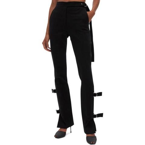 HELMUT LANG Black Strap Stretch Trousers