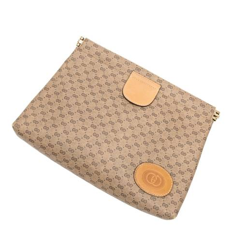 Gucci Beige/Tan Frame Toiletry Pouch