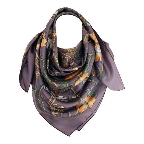 Gucci Gucci Purple Floral Silk Scarf