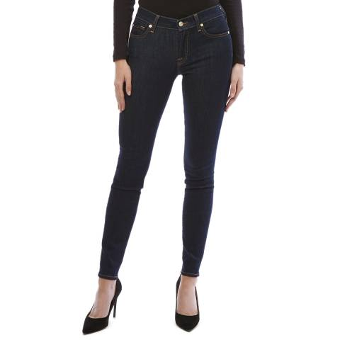 7 For All Mankind Dark Blue The Skinny Stretch Jeans