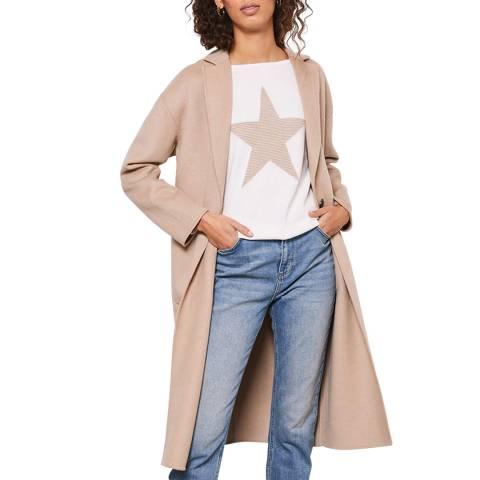 Mint Velvet Camel Split Seam Wool Blend Coat