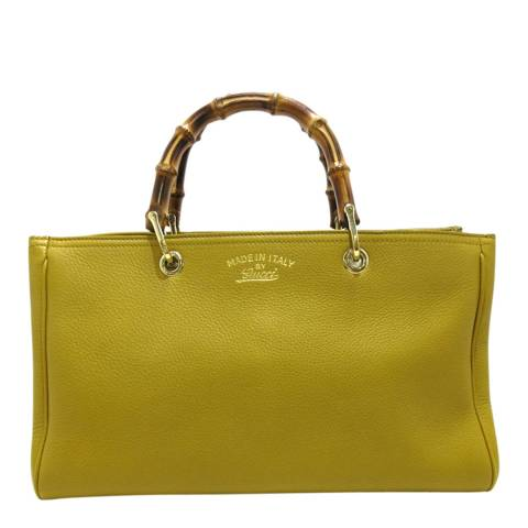 Gucci Yellow Bamboo Shopper