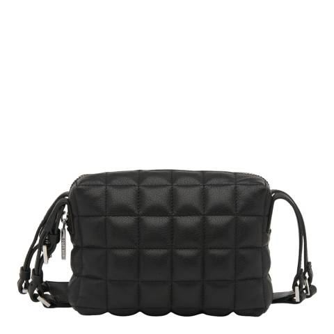 WHISTLES Black Elias Quilted Crossbody Bag
