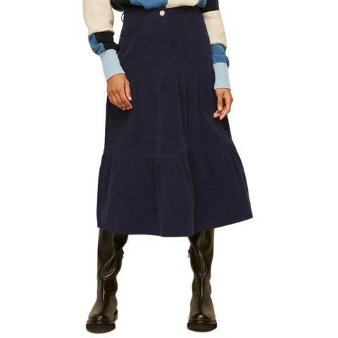 WHISTLES Navy Baby Cord Skirt