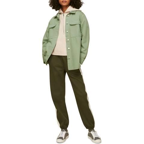 WHISTLES Green Masie Cotton Overshirt