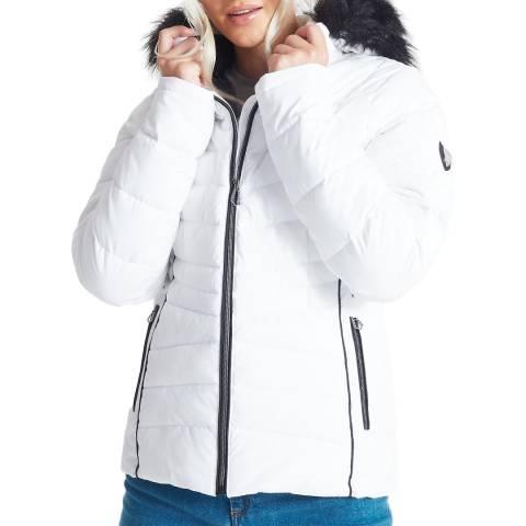 Dare2B White/Black Wateproof Insulated Ski Jacket