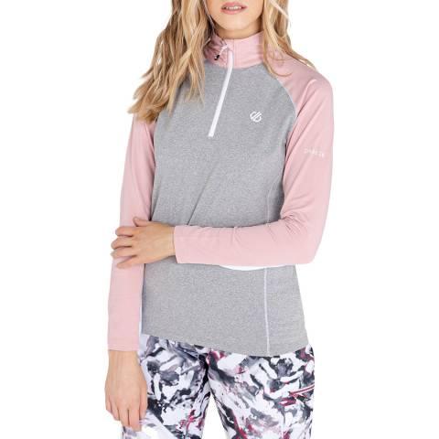 Dare2B Pink/Grey Stretch Half Zip Pullover