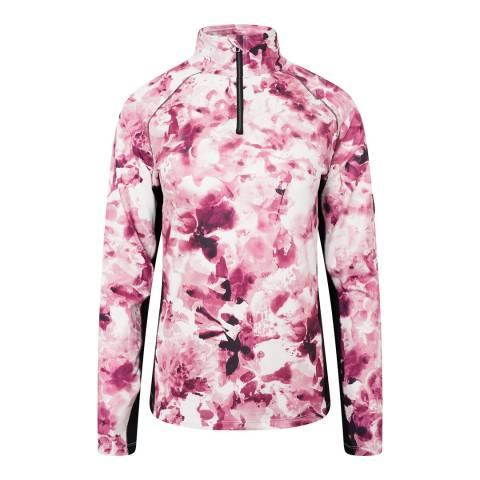 Dare2B Floral Pink Stretch Midlayer