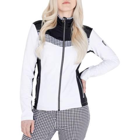 Dare2B White Full Zip Stretch Midlayer