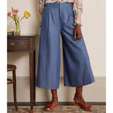 Boden Mid Vintage Denim Cotton Blend Culottes