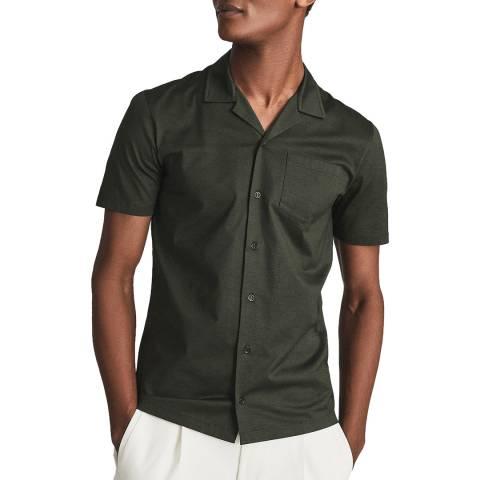 Reiss Khaki Caspa Cotton Shirt