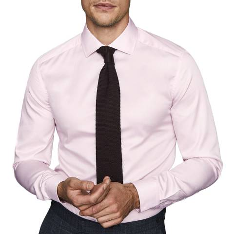 Reiss Pink Remote Slim Fit Cotton Shirt