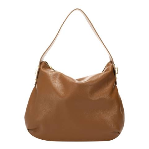 Lisa Minardi Cognac Leather Top Handle Bag