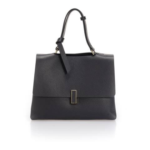 Giorgio Costa Dark Blue Leather Top Handle Bag