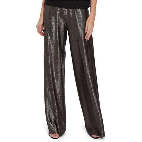 Gina Bacconi Grey Runa Metallic Trousers